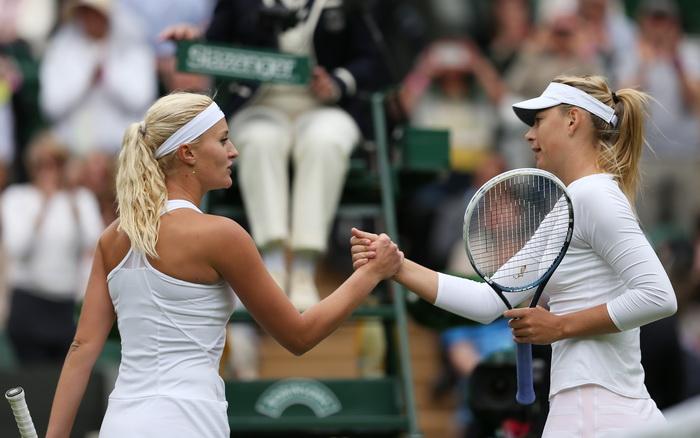 163 tenis charapova Мария Шарапова начала Уимблдон матчем с Кристиной Младенович