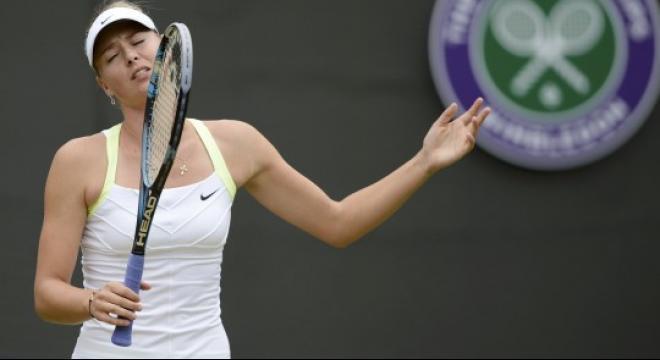 4ff1c9ab1d Мария Шарапова потерпела поражение во втором круге Уимблдона
